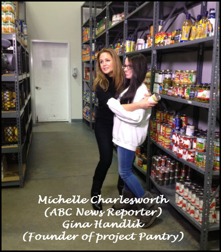ABC News Reporter, Michelle Charlesworth, interviews 14 yr old founder of Project Pantry