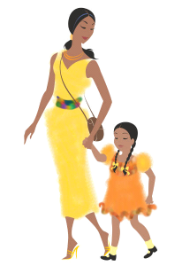 mother and daugher clip art 1